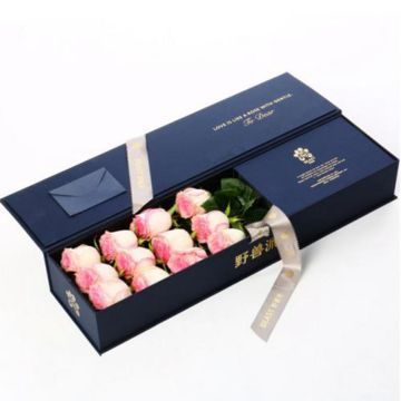 Valentine gift luxury paper box flower packaging