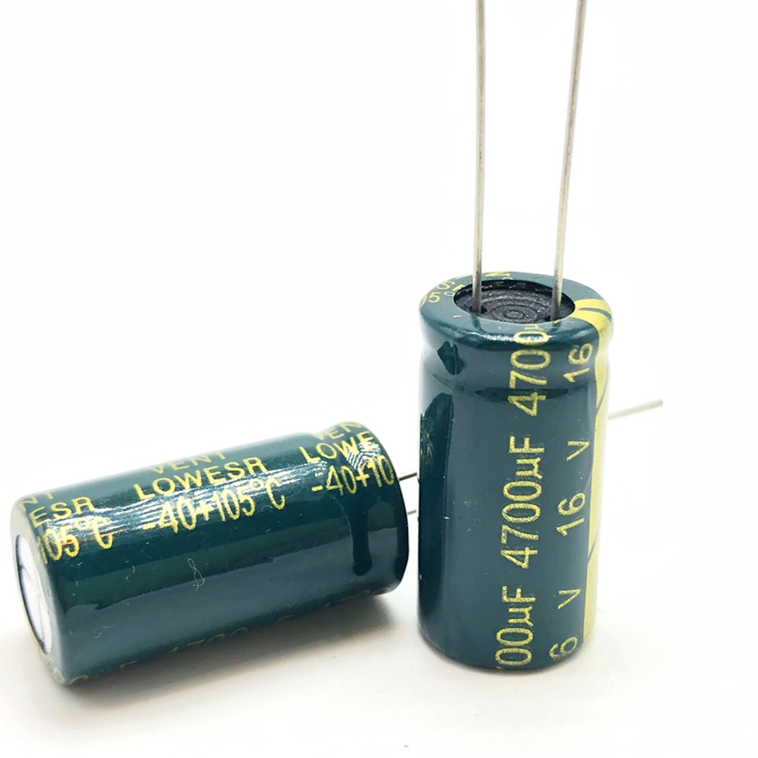 50pcs 16v 4700uf 13*25 high frequency low impedance aluminum electrolytic capacitor 4700uf 16v 20%