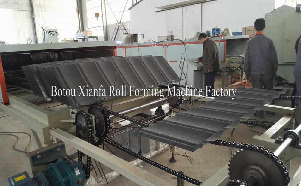 Stone Coated Steel Roof Tile Production Line