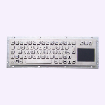 Waterproof IP65 Steel Keyboard With Touchpad