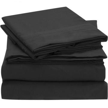 100% Polyester Double Brushed Microfiber 4pcs Bettwäsche-Set