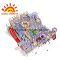 Large Trampoline Park Structure With Tube