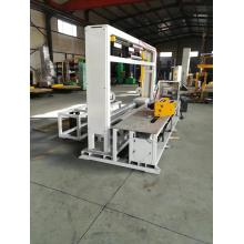 Automatic radial reel stretch wrapping machine