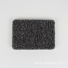Anti fatigue coil mat protecting car floor