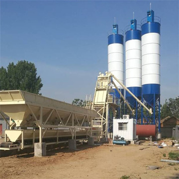 concrete batching plant on the barge