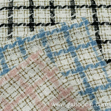 Boucle Vogue Plaid design with lurex fabric