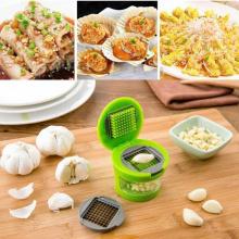 Multi-use Garlic Chopper Slicer Device Grater Shredder Garlic Press For Soft Vegetables,nuts,foods,two Interchangeable Blades