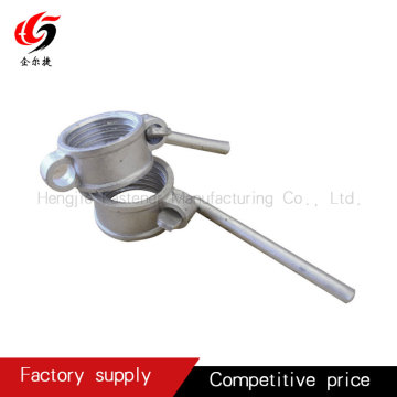 Scaffolding attachment with ear nuts type pin