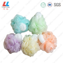 Squishy light color goodly bathing sponge ball