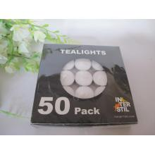 Set of 50 White Tealight Candle