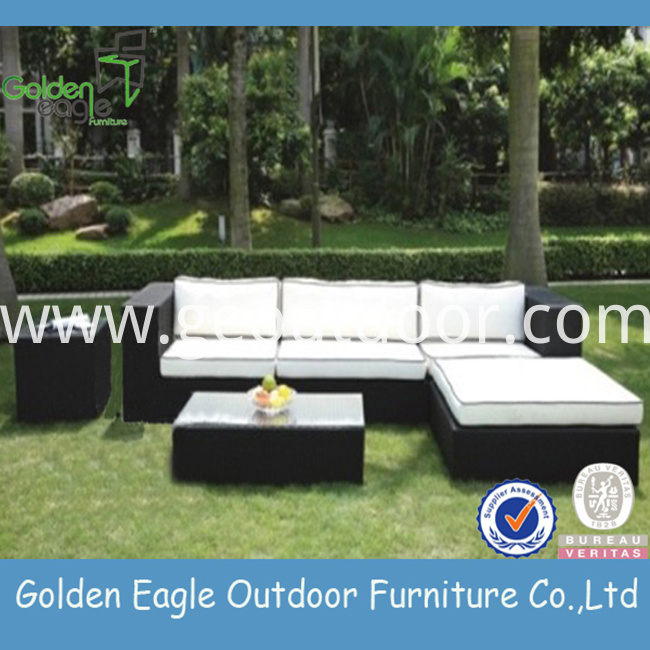 PE rattan outdoor sofa furniture aluminium