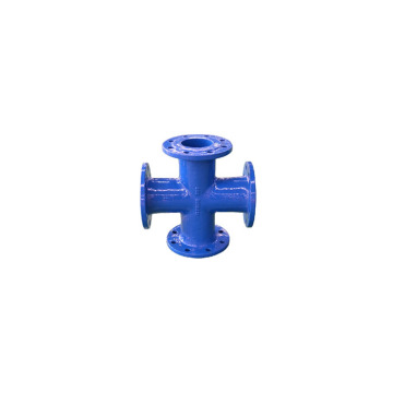 Ductile iron all flange cross