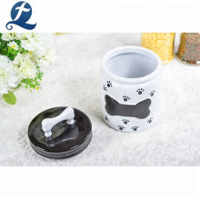Wholesale Custom Multi Color Pet Food Storage Ceramic Jars With Lids