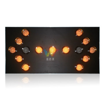 Truck mounted traffic safety yellow led arrow board