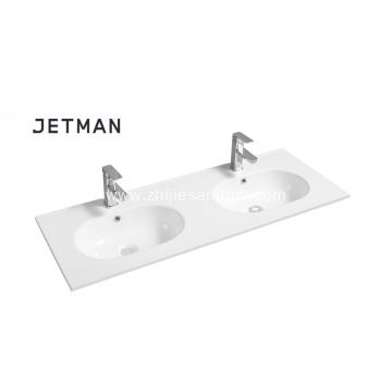 Double Tank  Ceramic Hand Wash Basin