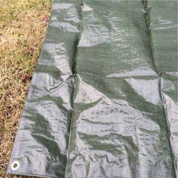 Tarpaulin with Reinforced Corners and Rivet