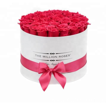 Luxury Paper Tube Flower Packaging With Ribbons