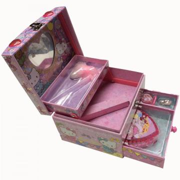 Paper drawer three-layer cosmetic storage box