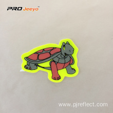 Reflective Adhesive Pvc Turtle Shape Stickers For Children