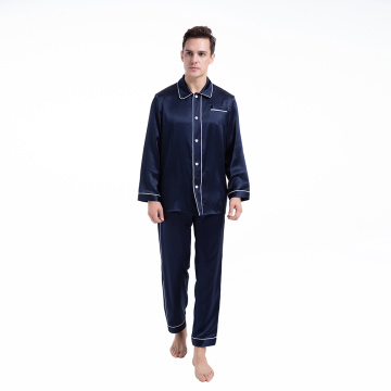 Men's Pajamas Pants Sets Silk 19 Momme Sleepwear