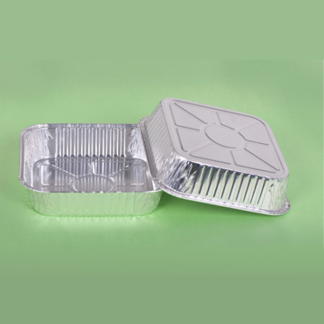 Disposable Silver Rectangular Dinner Box