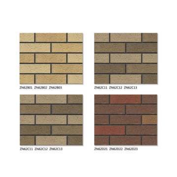 Exterior thin brick veneer sizes 6x20cm