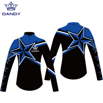 Sublimated cheap cheer warm up jackets