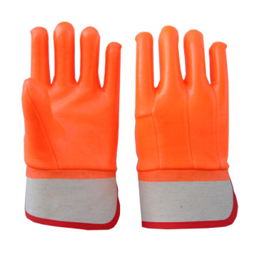 Anti-Cold Orange PVC coated Gloves