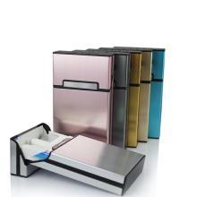 Smoking Cigarettes Slim Metal Cigarette Box Cigarette Case Aluminum fine Gift Box Holder For Man