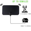 50 Miles Digital TV Antenna Booster Active Indoor Aerial HD Flat Design 25DB High Gain HD TV DTV Box EU Plug