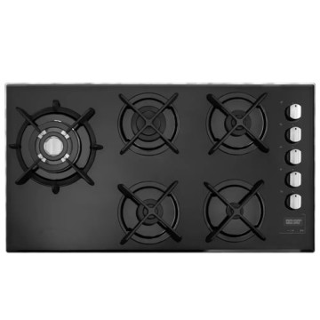 Built-in Stove 5 Burners Brastemp Glass Table