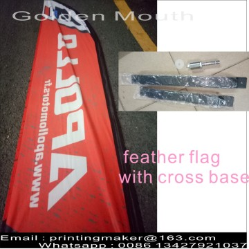 Double Sided Feather Flags with Cross Base