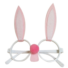 Pink Easter bunny shape sunglasses