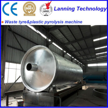 automatic waste tyre recycle to oil pyrolysis equipment