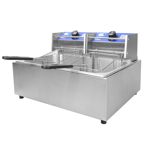 2 Tank 2 Basket  Electric Deep Fryer