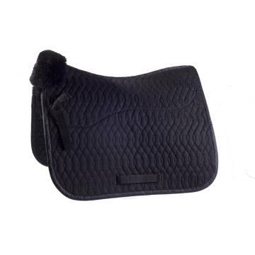 Sheepskin saddle pads with quilted cloth