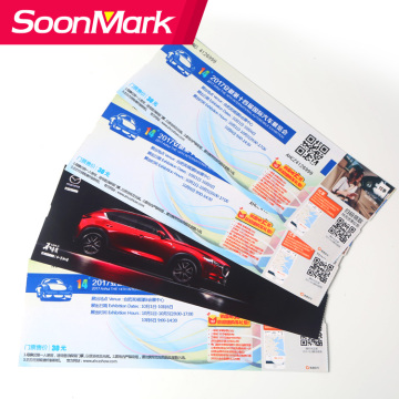 Airline ticket boarding pass admission ticket paper printing