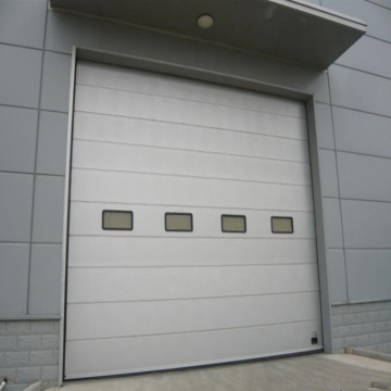 Fast action industry high speed sectional door