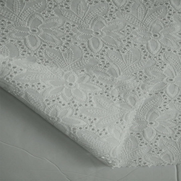 Eco-friendly 100% cotton eyelet embroidery lace fabric