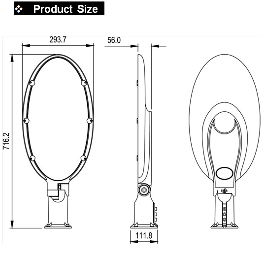 led street light size
