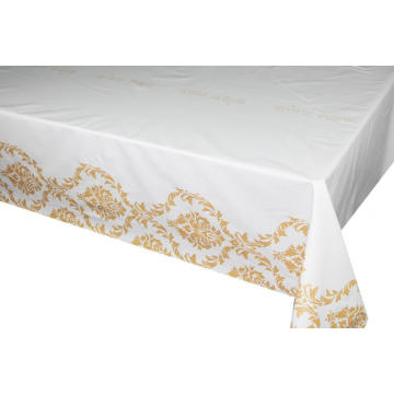Pvc Printed fitted table covers Luxury Table Linens