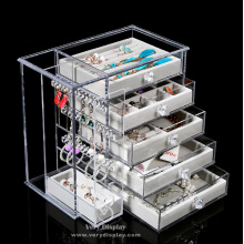 Customized Customized clear acrylic jewelry organizer.