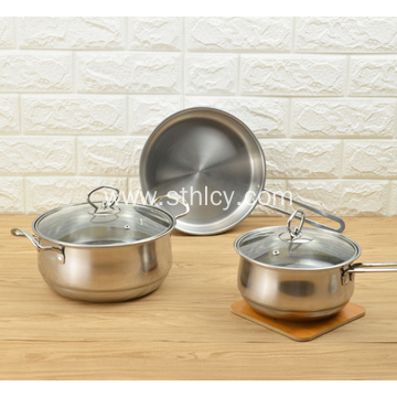 Material Safety And Health Stainless Steel Cookware Set