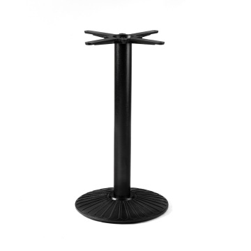 Steel Round Dining Room Pedestal Table Base
