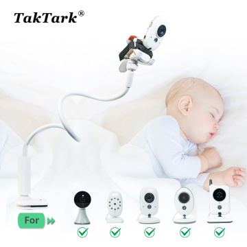 TakTark Multifunction Universal Camera Holder Stand for Baby Monitor Mount on Bed Cradle Adjustable Long Arm Bracket