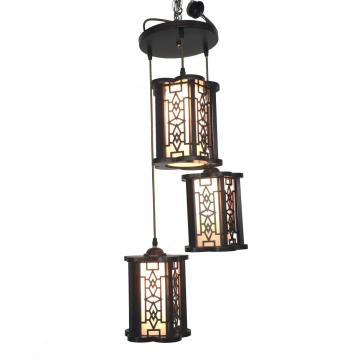 Chinese retro three head wooden Chandelier
