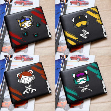 New Style Rainbow Six Siege Printing Short Wallet Cartoon Money Bag Pu Leather Card for Teens Students Money Holder