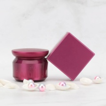 Double-layer dark red acrylic square cosmetic jars