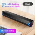 Portable Wireless Bluetooth Speaker Column Stereo Bass Sound Bar FM Radio USB Subwoofer For Computer TV Home Theater HIFI