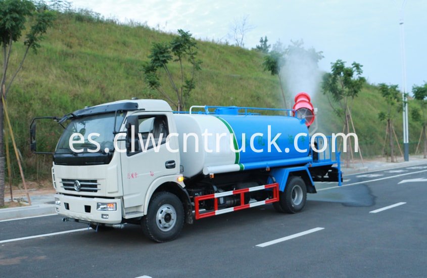 pesticide spraying truck in action 1